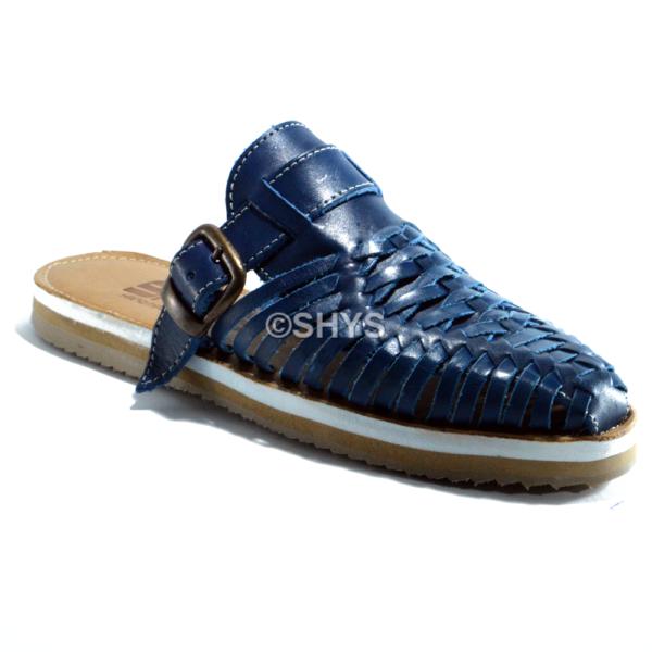 huarache artesanal azul